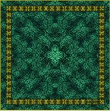BAROQUE PLAIN- Emerald - Square PRE-ORDER
