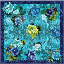 THE FRIDA - Turquoise and Lime - LARGE SQUARE