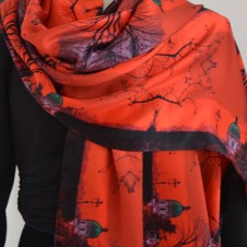 PAINT THE TOWN RED - LONG SCARF