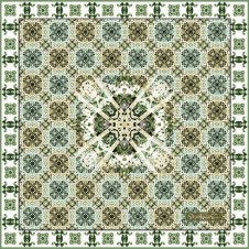 CHELSEA CHEQUERS Sage green LARGE SQUARE
