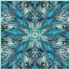 TROPICANA Moody Blue - Large Square
