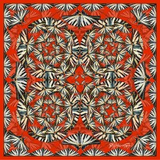 BOUDOU BUTTERFLY SCARLET - LARGE SQUARE
